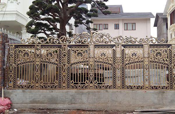 Mẫu hàng rào nhôm đúc thiết kế ấn tượng, chất lượng cao