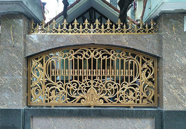 Hàng rào nhôm đúc chắc chắn, thiết kế đa dạng