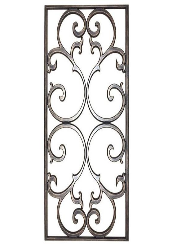 Mẫu khung bảo vệ cửa sổ họa tiết đối xứng tinh tế tạo điểm nhấn cho cửa sổ và tổng quan ngôi nhà