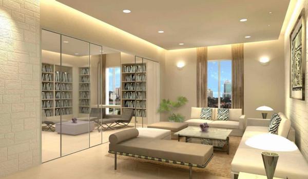Vách kính ngăn phòng cho căn hộ chung cư đẹp