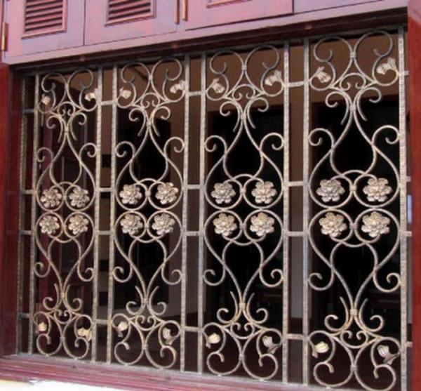 Mẫu bông bảo vệ cửa sổ bằng sắt đẹp 8