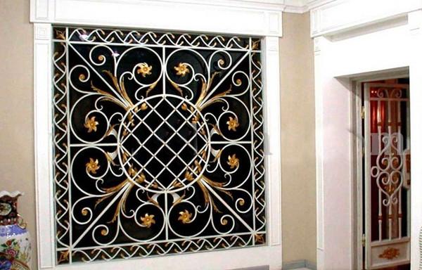 Mẫu bông bảo vệ cửa sổ bằng sắt đẹp 9