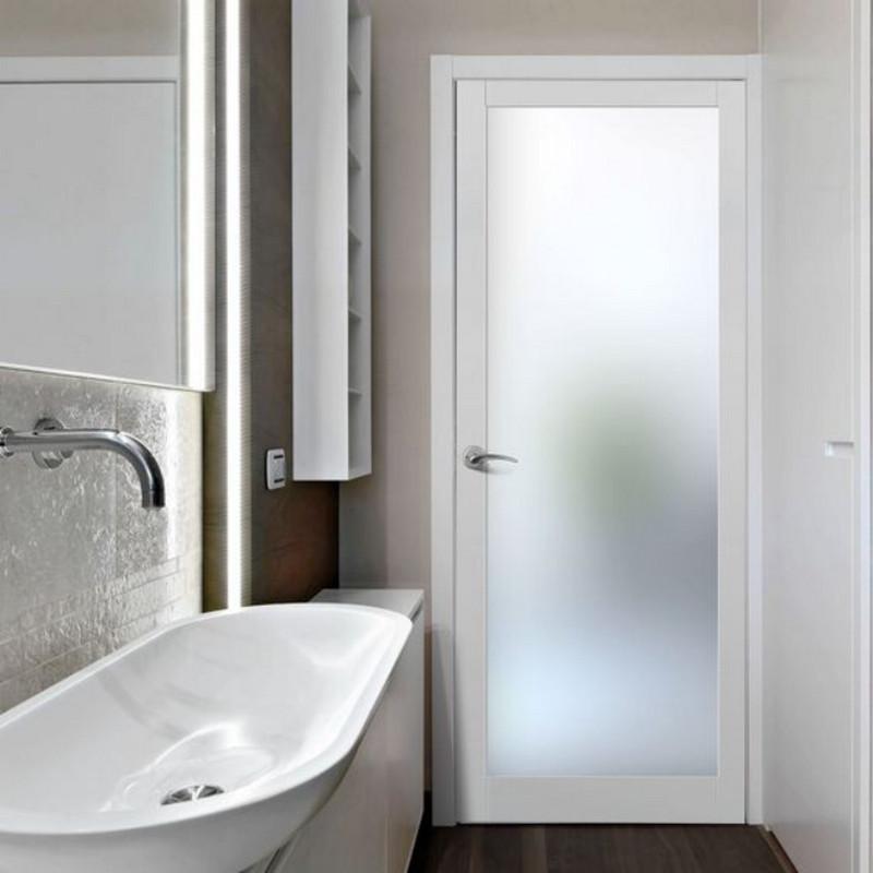 Cửa nhôm Xingfa toilet màu trắng sang trọng