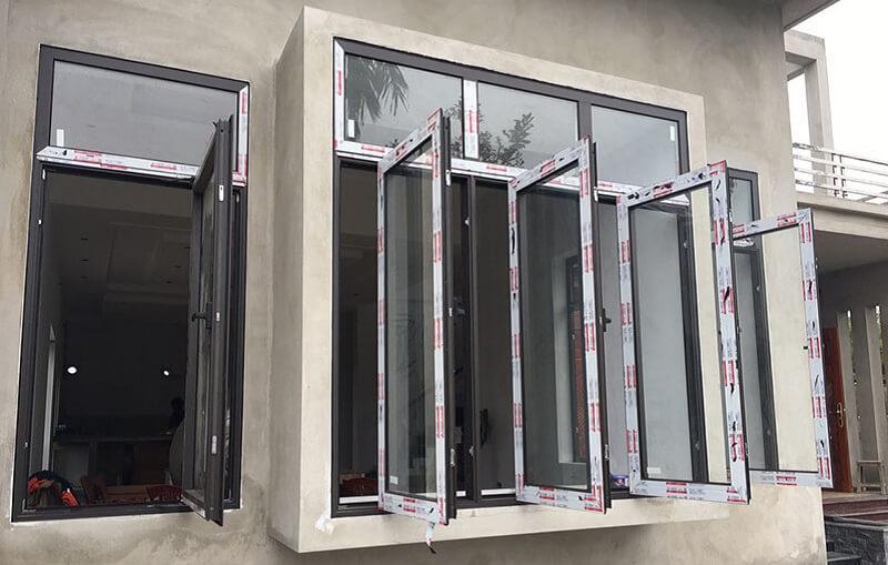 Thiết kế cửa sổ nhôm kính 3 cánh