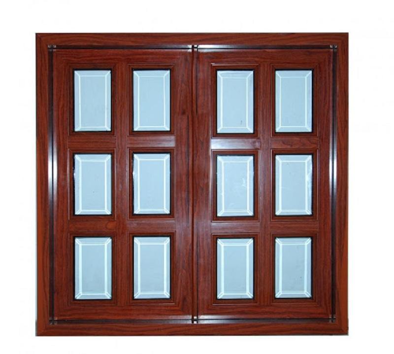 Cửa sổ nhôm xingfa 2 cánh vân gỗ hiện đại, cao cấp
