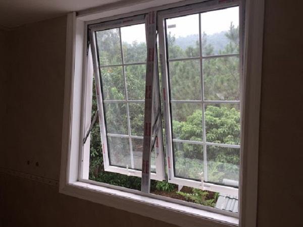 Cửa sổ nhôm Xingfa 2 cánh mở đẩy màu trắng sữa