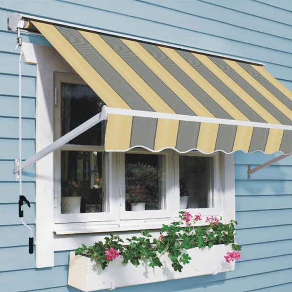 Mái che cửa sổ vải bạt di động kết hợp cây xanh