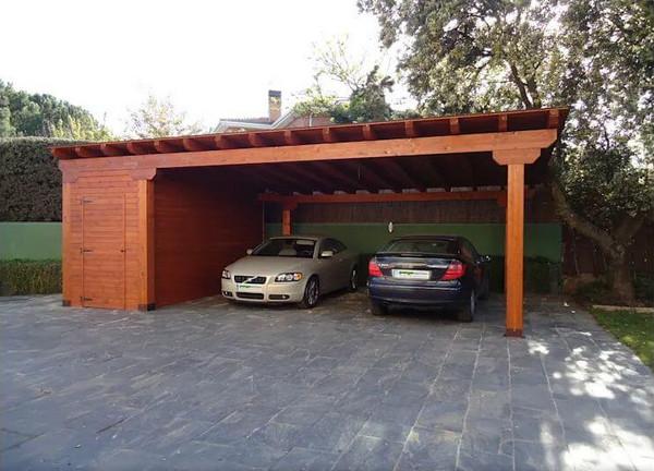 Mái hiên được thiết kế cho giữ xe kết hợp nhà kho
