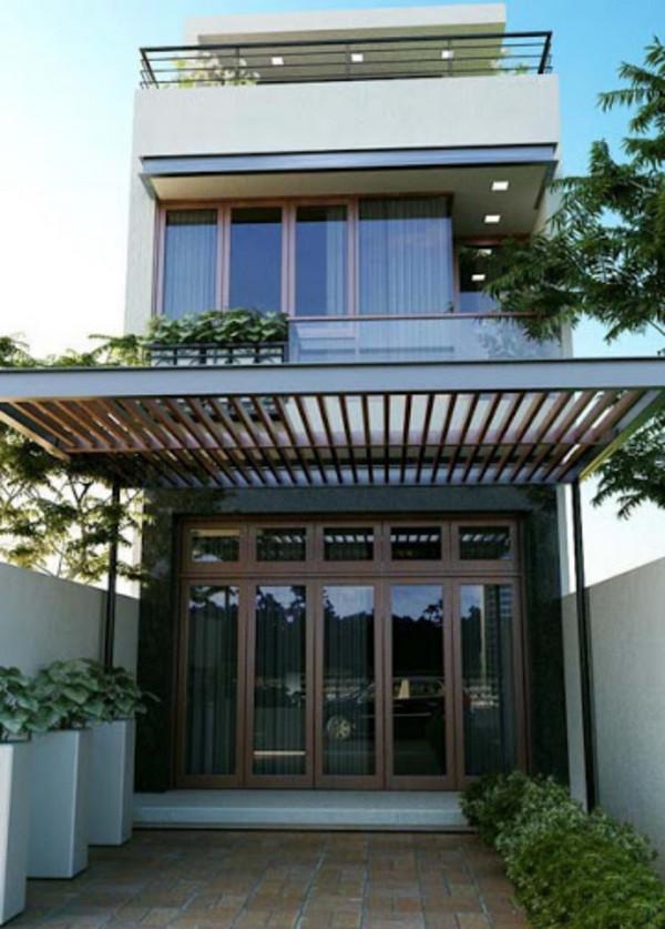 Mái hiên nhà phố đẹp, đơn giản