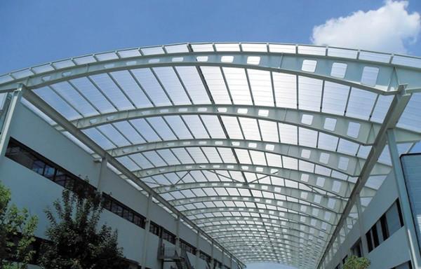 Mái hiên vòm cửa kính kích thước lớn