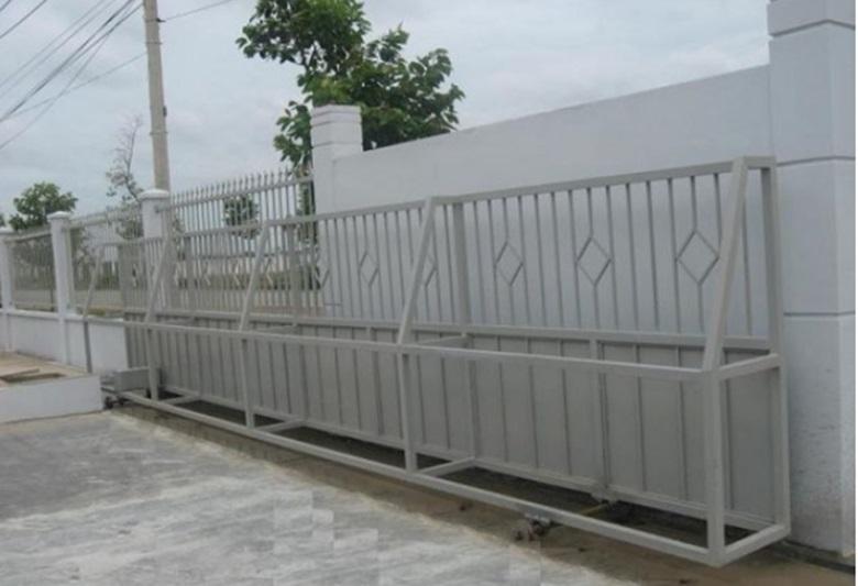 Mẫu cổng nhà máy phổ biến hiện nay