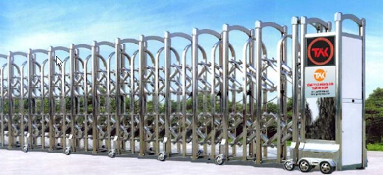 Mẫu cổng nhà máy tự động