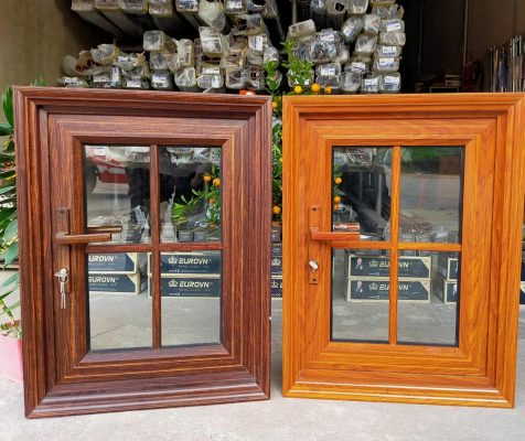 2 Mẫu cửa sổ nhôm EuroVN giả gỗ sang trọng, an toàn