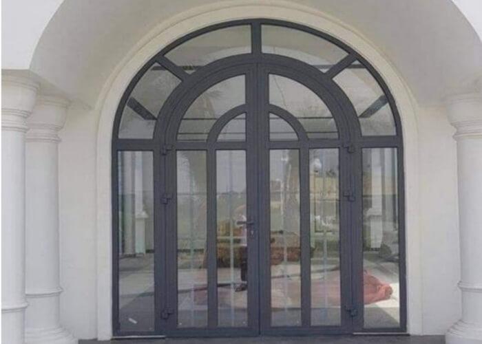 Mẫu cửa nhôm xingfa uốn vòm an toàn