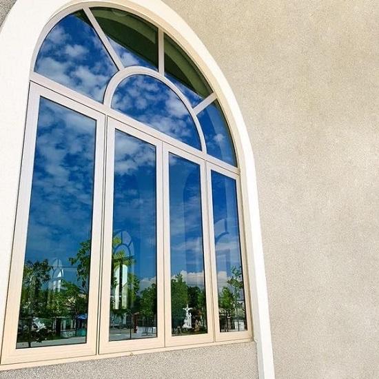 Mẫu cửa sổ nhôm xingfa uốn vòm cao cấp