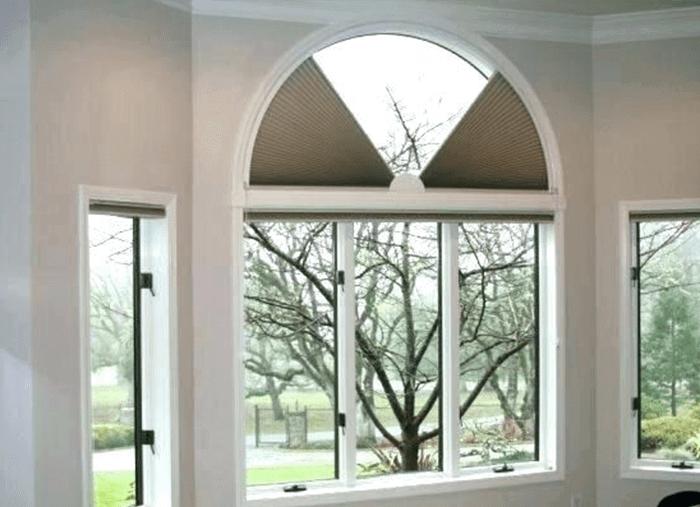 Mẫu cửa sổ nhôm Xingfa uốn vòm độc đáo